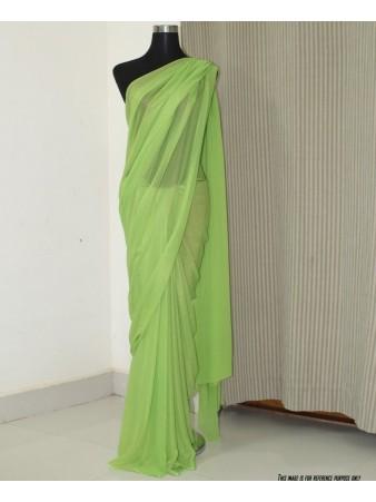 VF - Partywear parrot Georgette saree