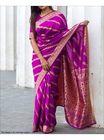 RE - Rani Colored Soft Banarasi Silk Saree