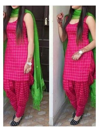 KF - Designer pink banglori satin dress material