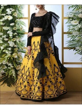 RE - Attractive Yellow Party wear Lehenga Choli