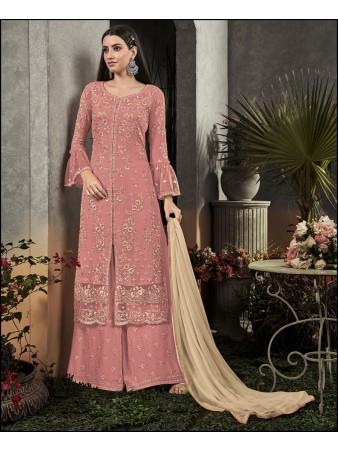 RF - Super Model Pink Georgette Sharara Style Suit