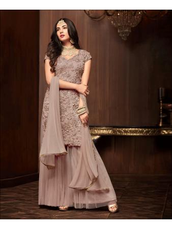 RF - Cofee Soft Net Pakistani Sharara Style Suit