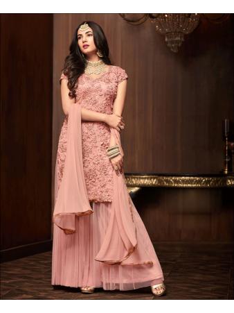 RF - Orange Soft Net Pakistani Sharara Style Suit