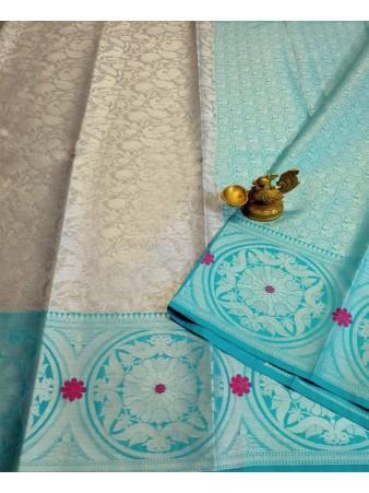 VF - Ethnic Lichi soft silk woven saree